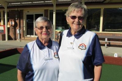2017 District Senior Pairs Winners, Elaine Jones and Sue Sackson