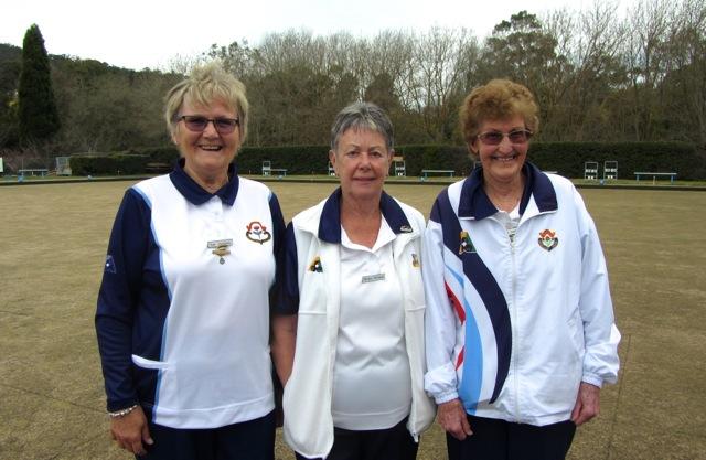 2017 Womens Club Triples Winners Sue Jackson, Christie Williams & Reta South